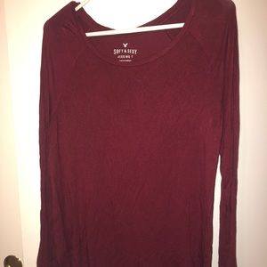 Maroon soft & sexy long sleeve from American Eagle